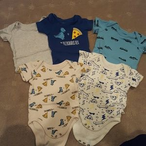 Bundle of 5 Rosie Pope boy onesies